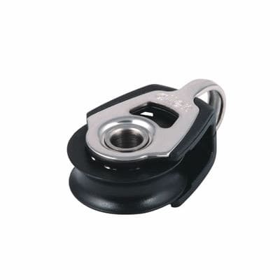 ball bearing block / single / with fork / max. rope ø 6 mm