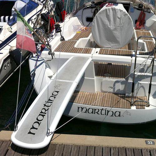 Boat gangway / folding / manual / carbon fiber AURORA Exit Carbon
