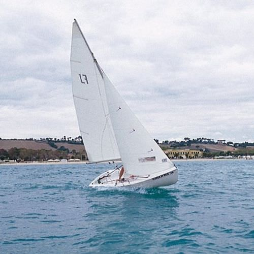 double-handed sailing dinghy / recreational / symmetric spinnaker / single-trapeze