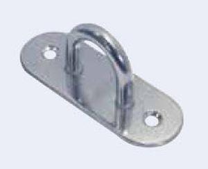 articulated pad eye for sailboats / semicircular