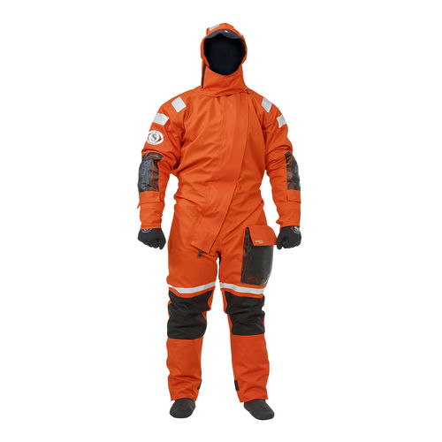 rescue drysuit / with hood / men's / breathable
