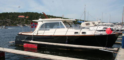 inboard cabin cruiser / hard-top / with enclosed cockpit / sport-fishing