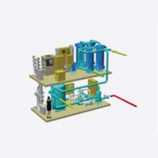 wastewater treatment system / for ships