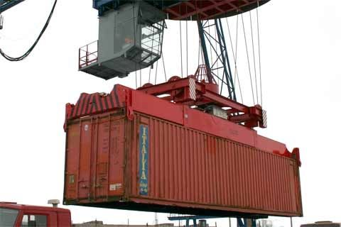 Container spreader / ship-to-shore crane / telescopic BALTKRAN