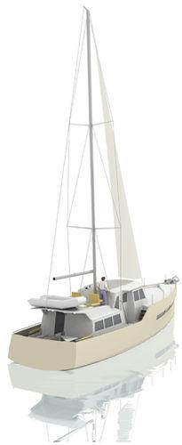 cruising sailing yacht / motorsailer / flybridge