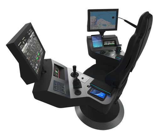 operator seat / for ships / with built-in pilot console / high-back