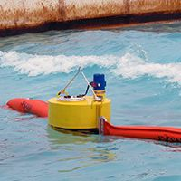 pollution control boom / floating / sheltered waters
