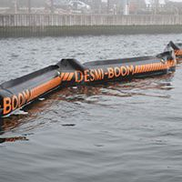 pollution control boom / inflatable / sheltered waters / pneumatic