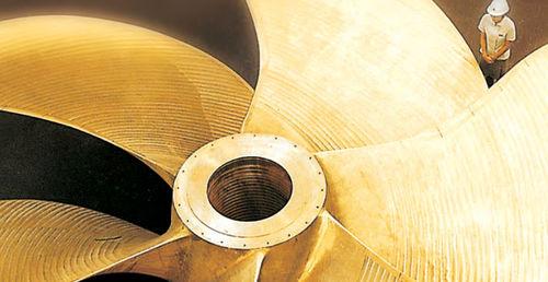 ship propeller / fixed-pitch / propeller shaft / custom