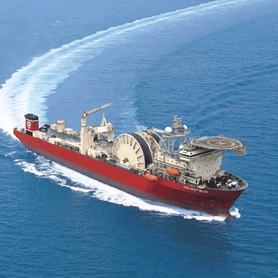 work barge special vessel / for pipe laying