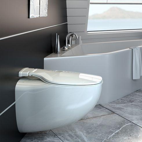 marine toilet / vacuum / wall-mounted