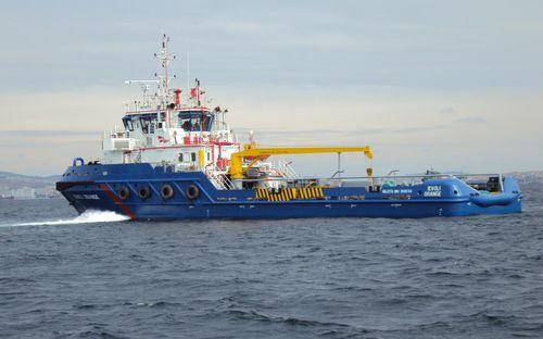 AHT anchor-handling tugboat offshore support vessel H60-IEVOLI ORANGE SELAH MAKINE VE GEMICILIK ENDÜSTRI