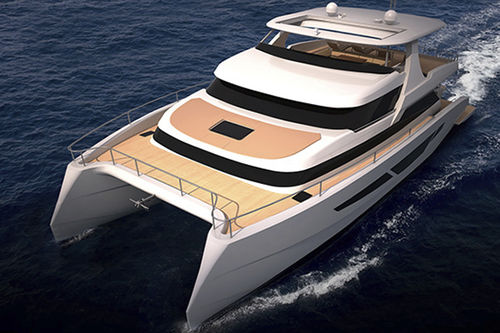 catamaran motor yacht / offshore / wheelhouse / displacement
