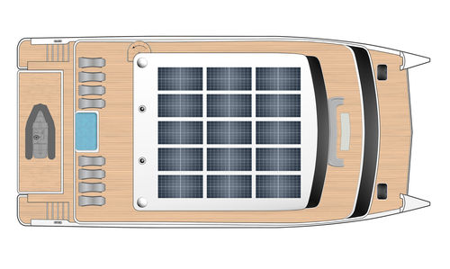 Cruising motor yacht / with enclosed flybridge / IPS 83 Flash Catamarans