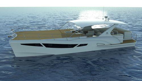catamaran glass-bottom boat / inboard