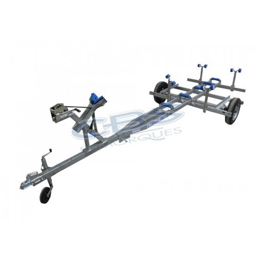 launching trolley / for inflatable boats / towable
