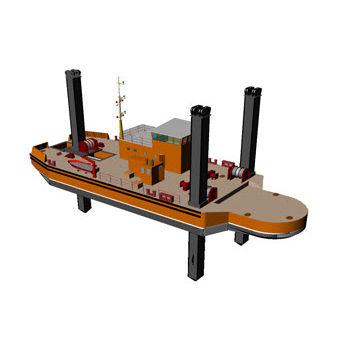 Work barge special vessel DIPPER (PONTOON) 3600 Arya Shipyard
