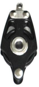 ball bearing block / single / with becket / max. rope ø 16 mm