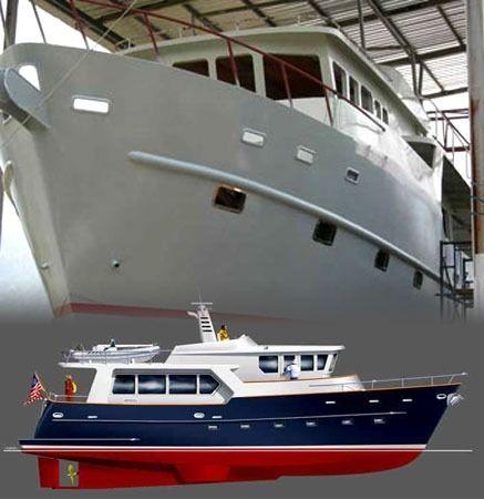 cruising motor yacht / trawler / wheelhouse / steel