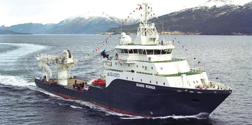 Dive support vessel offshore support vessel SEABED WORKER Fjellstrand AS