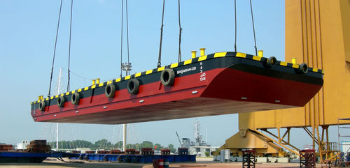 oil spill recovery barge / aluminum