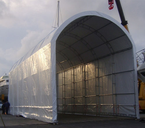 Boat technical shelter / for repair Wheel Series Yachtgarage