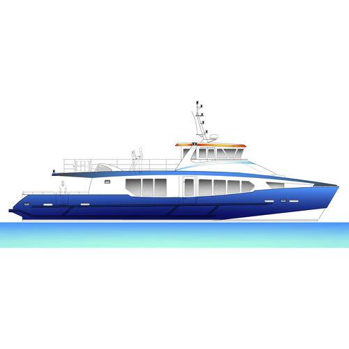 passenger boat / inboard / diesel / aluminum