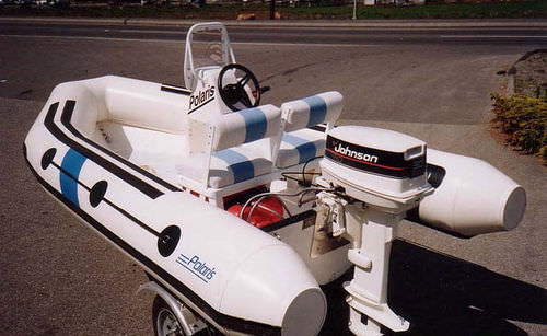 outboard inflatable boat / rigid / center console / 8-person max.