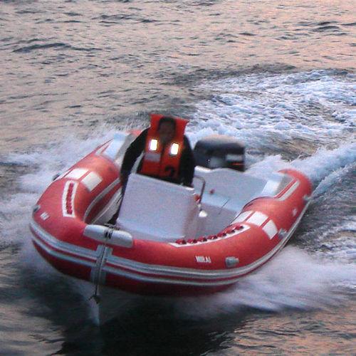 outboard inflatable boat / RIB / center console / 14-person max.