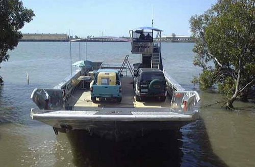 Inboard work barge / aluminum Fatboy Incat Crowther