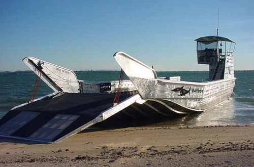 work barge / inboard / aluminum