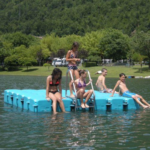 marina platform / for recreation centers / swim / floating