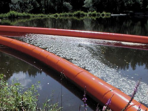 Pollution-control boom / inflatable / floating / sheltered waters Optimal Planen- und Umwelttechnik