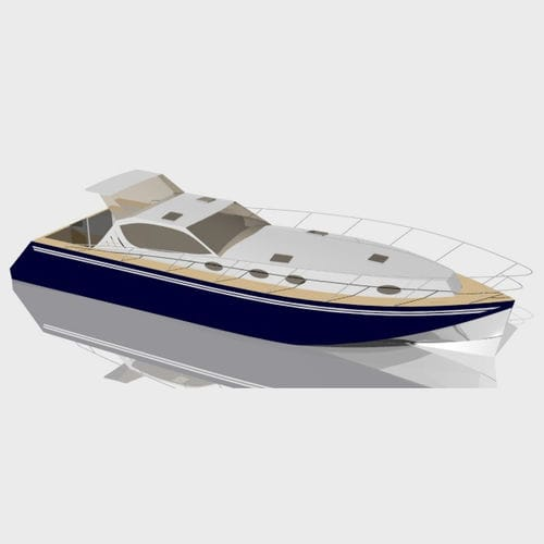 inboard express cruiser / planing hull / hard-top / aluminum