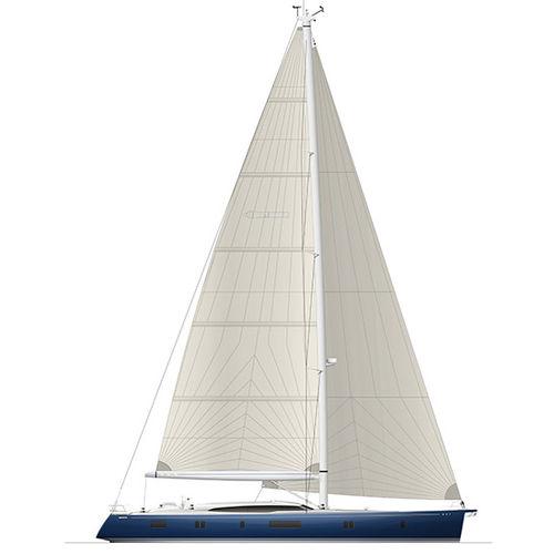 cruising sailing yacht / deck saloon / center cockpit / 5-cabin