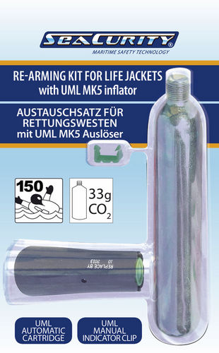 Inflatable lifejacket re-arming kit 52006 / 52007 SeaCurity GmbH
