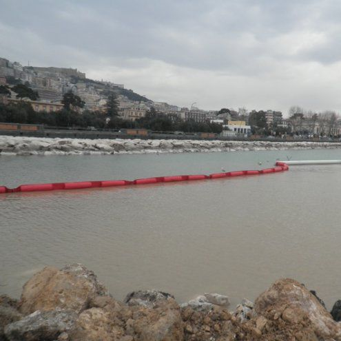 Pollution-control boom / floating / for harbors / sheltered waters HARBOUR DREDGING Vira Soluzioni