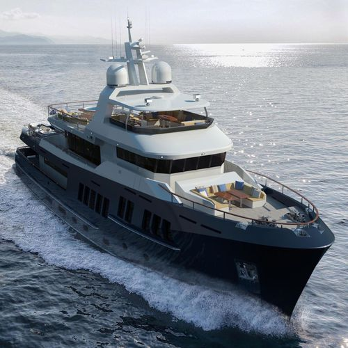 expedition super-yacht / trawler / flybridge / displacement hull
