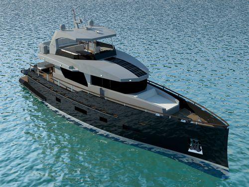 cruising motor yacht / traditional / flybridge / steel