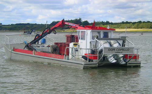 Outboard work barge / aluminum Mussel Navalu