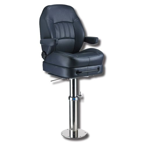 helm seat / for boats / with armrests / sliding