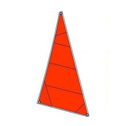 storm jib / for sailing dinghies / cross-cut / polyester