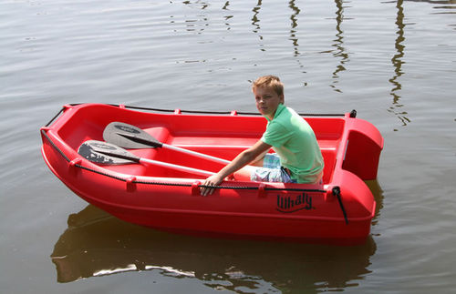 outboard small boat / rotation-molded / 2-place