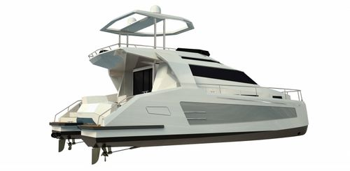 catamaran express cruiser / inboard / flybridge / 4-cabin