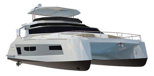 catamaran motor yacht / cruising / flybridge / shaft drive