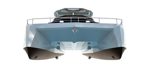 catamaran motor yacht / cruising / flybridge / fiberglass