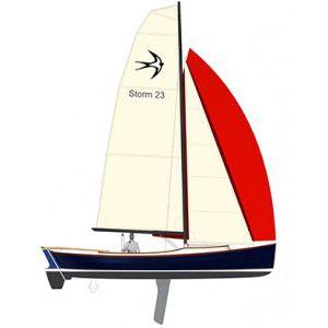 monohull / day-sailer / open transom / carbon mast
