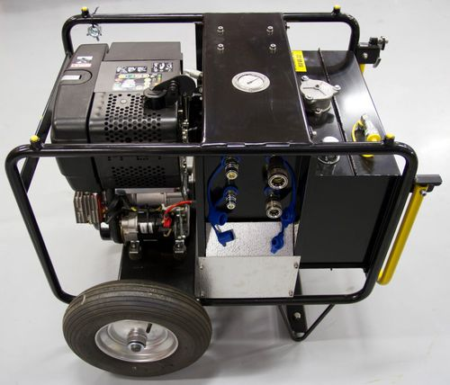 pollution control boat hydraulic power unit / for harbors and terminals / electrically-powered / diesel engine