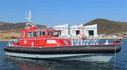 pilot boat / inboard / aluminum / rigid hull inflatable boat