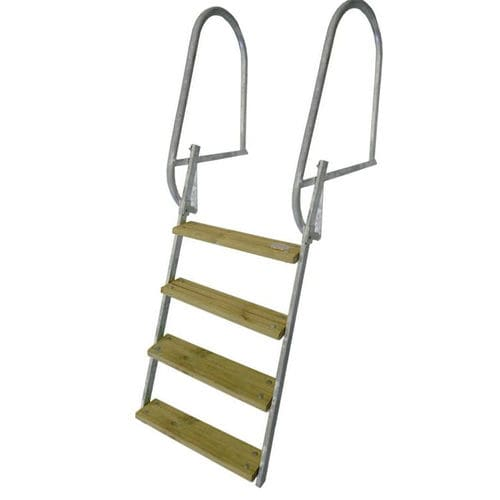 Dock ladder / folding / swim / stainless steel Short A-Laiturit